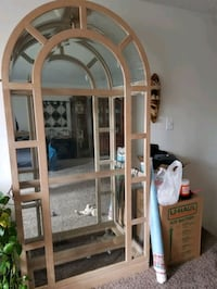 Glass curio cabinet with glass shelves. Camden County, 08012