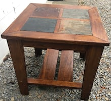 Coffee or end table. slate top table. Size 26 x 26 x 25