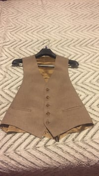 Men's Brown Formal vest
