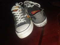 pair of white-and-red Nike basketball shoes Lancaster, 93535