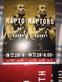 Selling a pair of hard copy Raptors Tickets (OVO Game)