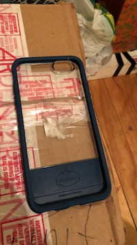 black and gray Otterbox iPhone case