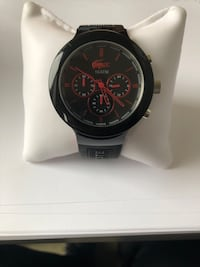 Lacoste special edition red and black crocodile sports watch Westmount, H3Z