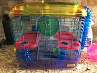 2 story hamster cage and accessories