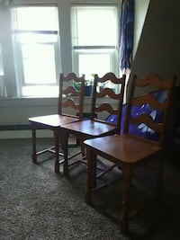 Light brown wooden chairs..only 3  Monticello, 12701