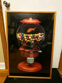 Picture frame of goldfish in gumball machine Decatur, 62522