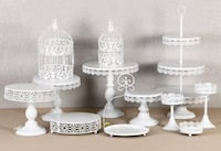 Brand New 12 pcs White Cake Stand AVAILABLE FOR PICK UP  Toronto, M1B 5J4