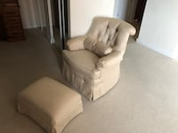 White chair with ottoman 45 km