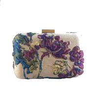 Handmade floral clutch with gold accents  Calgary, T2T 1Y7