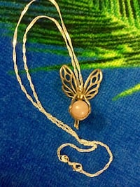 """Sterling Silver Butterfly Fairy  Pendant necklace / Silver chain 18"""" inch long 925 stamped Alexandria, 22311"""