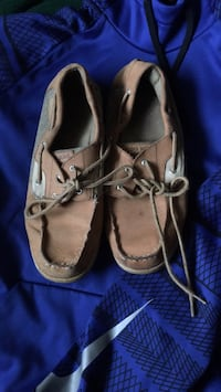 pair of brown leather boat shoes Front Royal, 22630