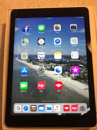 "Apple iPad Air, MD786LL/A 9.7"" 32GB Touchscreen Tablet Black/Space Gray Used Fort Myers, 33905"