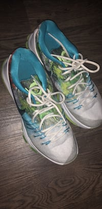 pair of gray-and-blue Nike running shoes Sterling Heights, 48311