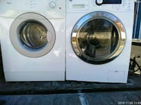 white Samsung front-load clothes washer and dryer set Prince George's County, 20746