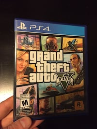 Grand Theft Auto Five PS4 game case null, V0M