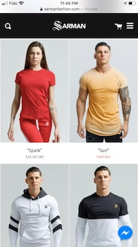 FREE Shipping! Sarman men's T-shirt, pant and hoodies for sale