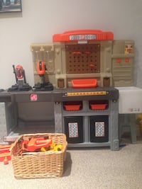 gray and brown Step 2 kitchen playset