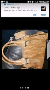 Real leather handbag  Greater London, E17 6PH