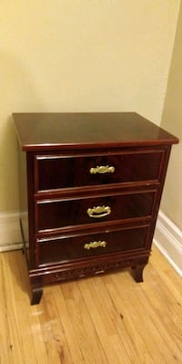 brown wooden 4-drawer chest Montréal, H4B 2X3