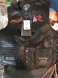 Leather vest new with tags