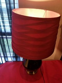 red and black table lamp Charlotte, 28269