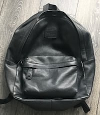 Black Leather Coach Bag Backpack  535 km