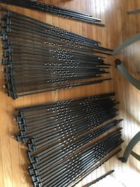 86 solid wrought iron balusters with 80 flat shoe : used Ashburn, 20147