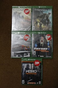 Unopened Xbox One games for sale ($15)