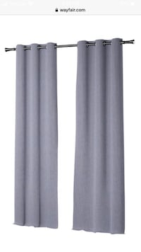 Four blue panel curtains (near blackout, thermal)
