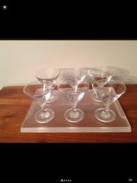 Celebrity Cruises 6 Martini Glasses & Tray