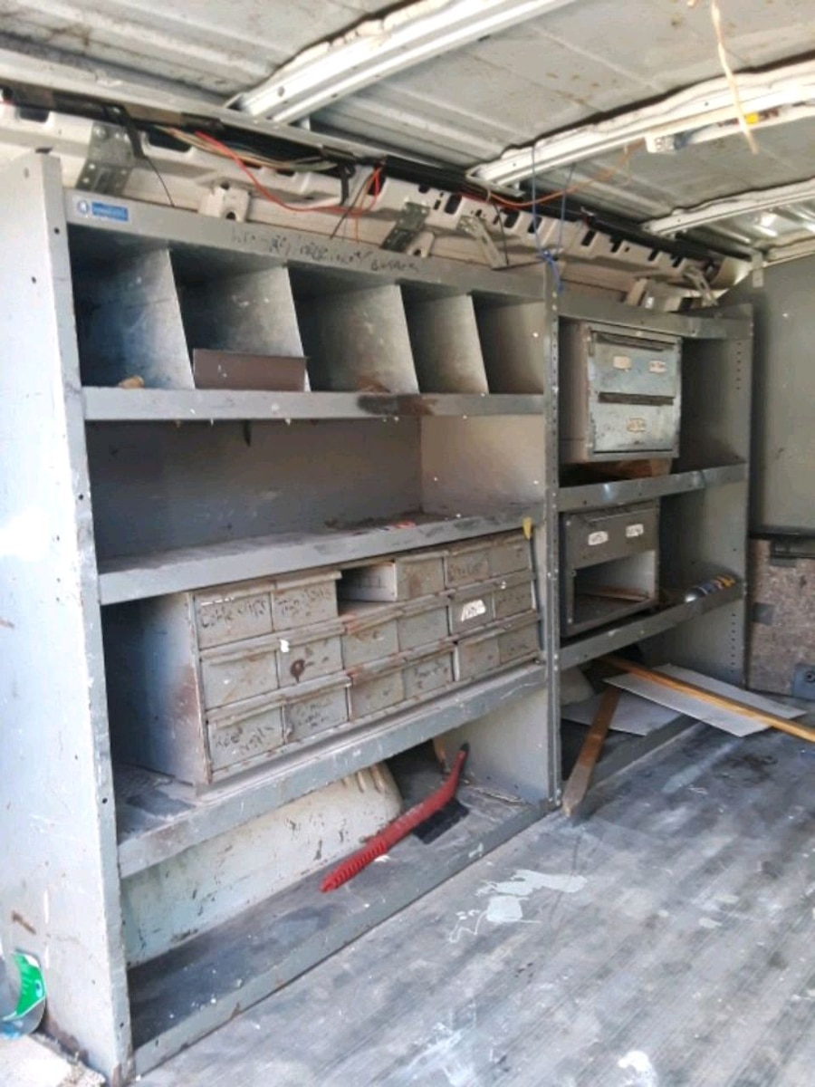 Photo Utility van shelves and cage
