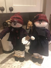 18 inch mr and mrs snowman beautifully dressed they stand up perfectly Selden, 11784