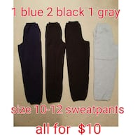 size 10-12 sweatpants