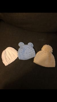 Three knit caps