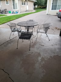 Patio Table Set With Four Chairs.