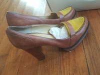 pair of brown leather pointed-toe flats Falls Church, 22046