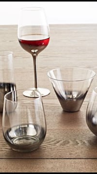 West Elm Glassware Silver Ombré Wine Glasses, Martini Glasses 45 km
