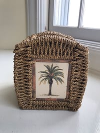 Tissue box cover - Palm tree themed