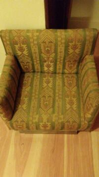 brown and green floral fabric sofa chair Syracuse, 13204
