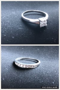 ETERNITY RINGS IN 18K WHITE GOLD AND WEDDING BAND 18K Dollard-des-Ormeaux, H9A 2C8