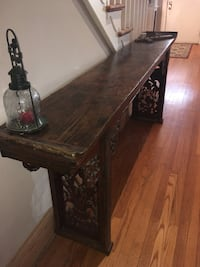 Carved sofa /hallway/entryway table (OBO) Baltimore, 21229
