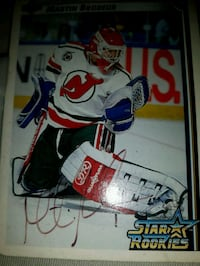 Martin Brodeur autographed star rookies card Victoria, V8Z