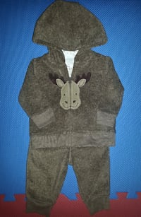 Carter's 3-Piece Moose Fleece Set (0-3 Months) Oshawa