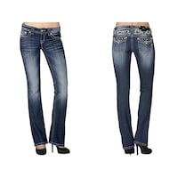 Miss Me jeans, boot cut, size 27.  Originally $150 Subiaco, 72865
