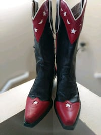 Ladies black-and-red leather cowboy boots Eastvale, 91752