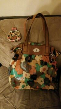 brown and green floral tote bag Pleasant Grove, 35127