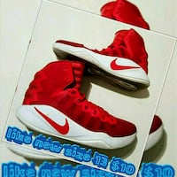 pair of red-and-white Nike basketball shoes Las Vegas, 89169