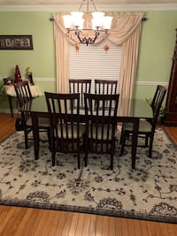 Dining Room Set and Hutch. Table has custom glass on top. Cranston, 02921