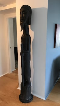 Black hand carved African statue  Long Beach, 90802