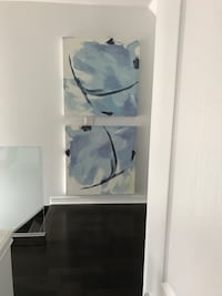 Set of abstract canvas paintings  Burlington